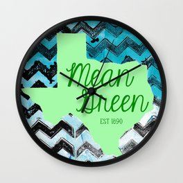 Mean Green Design Wall Clock