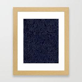 Hairy Astroids Framed Art Print
