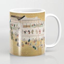 Hishikawa Moronobu - Scenes from the Nakamura Kabuki Theater (1690s) Coffee Mug