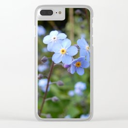 Forget-me-nots Clear iPhone Case