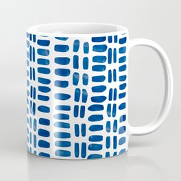 Abstract rectangles - dark blue Coffee Mug