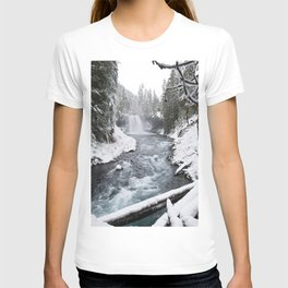 The Wild McKenzie River Waterfall - Nature Photography T-shirt