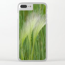 Fringes of Green Clear iPhone Case