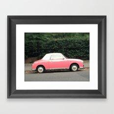 Pink car Framed Art Print