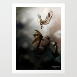 Arch Angel Michael  Art Print