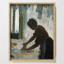 Edgar Degas A Woman Ironing Serving Tray