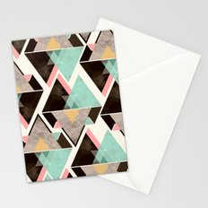 Geometric triangle color pattern Stationery Cards