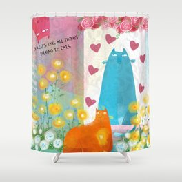 Flossie's Cats Shower Curtain