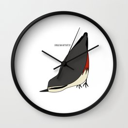 Eurasian Nuthatch Wall Clock