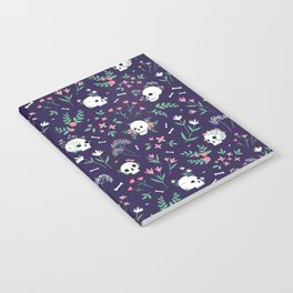 Skull Floral Notebook
