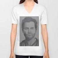tyler spangler V-neck T-shirts featuring Tyler Hoechlin by JMarGo