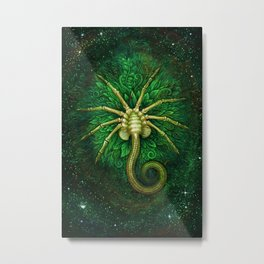 Facehugger (green) Metal Print