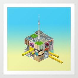 Mein Berliner Würfel / My Berlin Cube Art Print