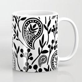 Black & White Floral Paisley V.01 Coffee Mug