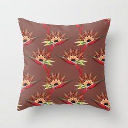 Strelitzia 1b Throw Pillow