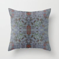 marijuana Throw Pillows featuring Marijuana print  by Kim Barton