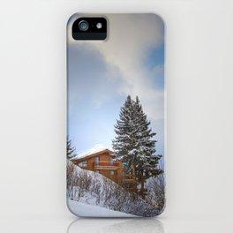 Chalet mountain cloud iPhone Case