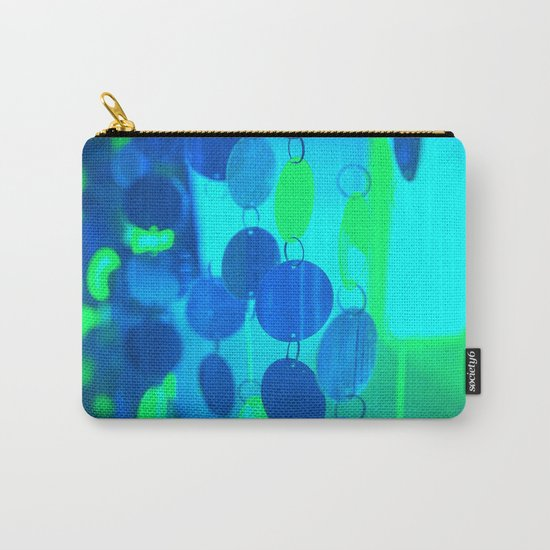 UNDERWATER GLAM CIRCLES #Blue #2 Carry-All Pouch