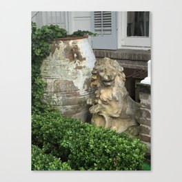The Lion, the Urn and the Boxwood Canvas Print