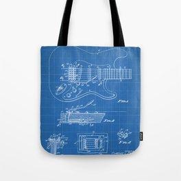 Guitar Tremelo Patent - Guitarist Art - Blueprint Tote Bag