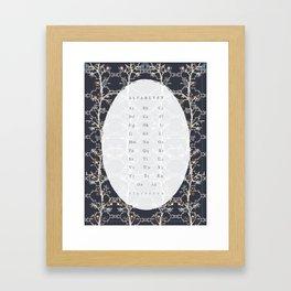 Alfabetet Blå Framed Art Print