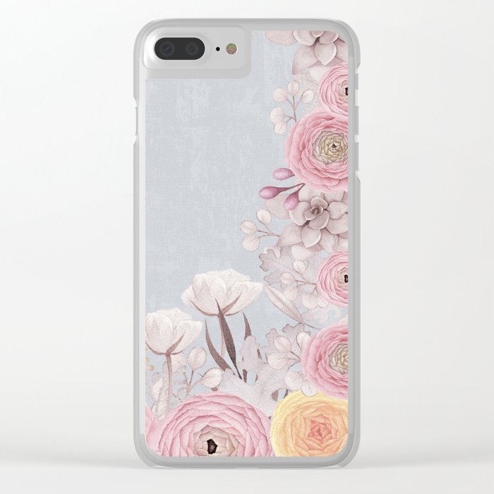 Floral Spring Greatings - Pastel Flowers on #Society6 Clear iPhone Case