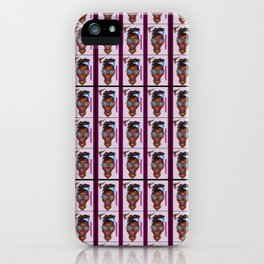 The Girl in the Rose Tinted Glasses iPhone Case