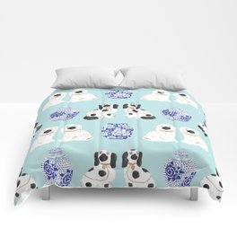 Staffordshire Dogs + Ginger Jars No. 7 Comforters
