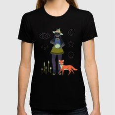Witch Series: Crystal Ball Black LARGE Womens Fitted Tee