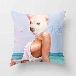 BI POLAR CHICK Throw Pillow