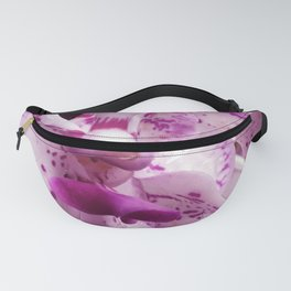 Pink Magenta Spotted Orchid Flowers Close-Up Fanny Pack
