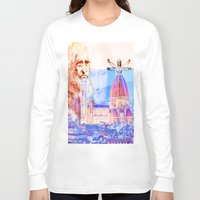 code Long Sleeve T-shirts featuring Code Leonardo  by Ganech joe