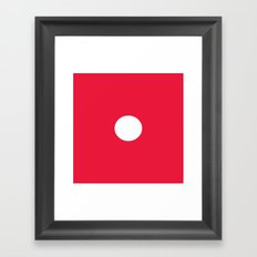 Red Dice 1 Framed Art Print