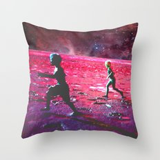 RUN on MARS Throw Pillow