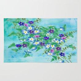 Watercolor Spring Bouquet  Rug