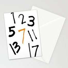 prime numbers Stationery Cards