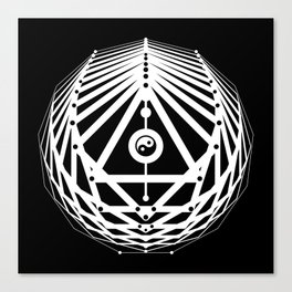 Radiant Abundance (black-white) Canvas Print