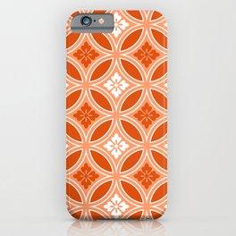 Shippo with Flower Motif, Mandarin Orange iPhone Case
