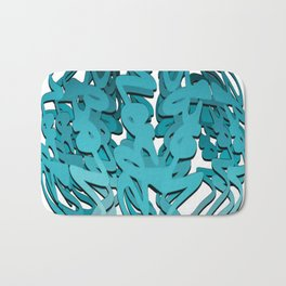 INTERLUDE Abstract Graffiti Bath Mat