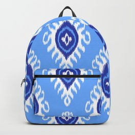 IKAT pattern 02, blue Backpack