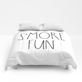 S'MORE FUN TEXT Comforters