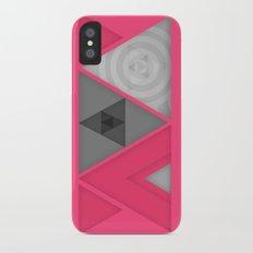 Optical illusion iPhone X Slim Case