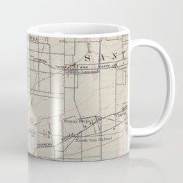 Vintage Map of Pasadena California (1894) Coffee Mug