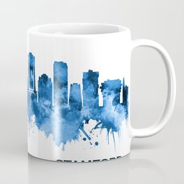Stamford Connecticut Skyline Blue Coffee Mug