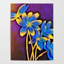 Radiating Flowers Poster