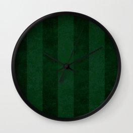 Emerald Stripes Wall Clock