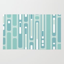 Ocean Reflection – Blue / Teal Midcentury Abstract Rug