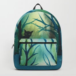 Louisiana Whimsical Cats and Trees Backpack