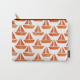 Ships Pattern Watercolor Carry-All Pouch