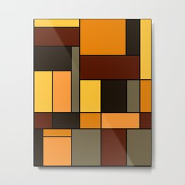 Mondrian Autumn Metal Print